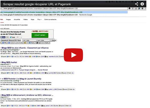 seoquake scrape google